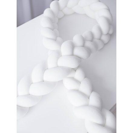 Luxury Super Soft Velvet fonott rácsvédő - krém fehér 400 cm