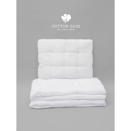 Luxury Cotton gaze babaágynemű szett 70x95 - fehér