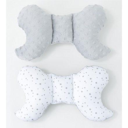 Mini csillagok minky pillangó párna - szürke, fehér