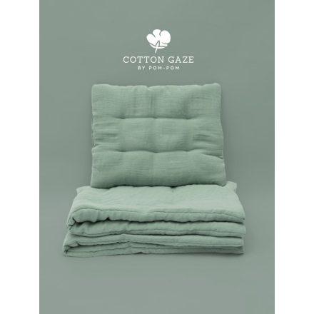 Luxury Cotton gaze babaágynemű szett 70x95 - menta