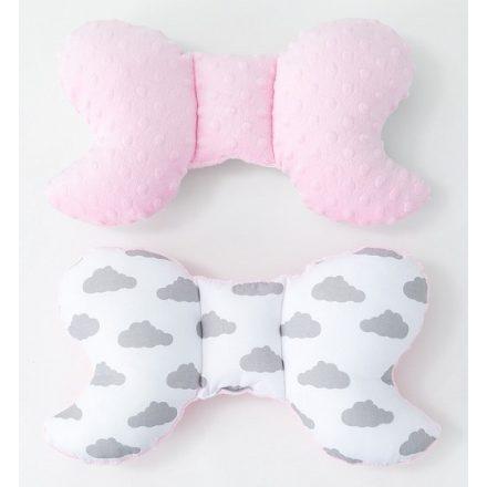 Felhőcske minky pillangó párna - rózsaszín