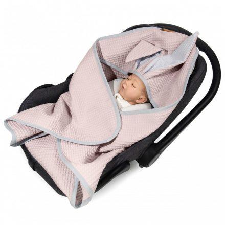 Floo waffel hordozó takaró - rózsaszín