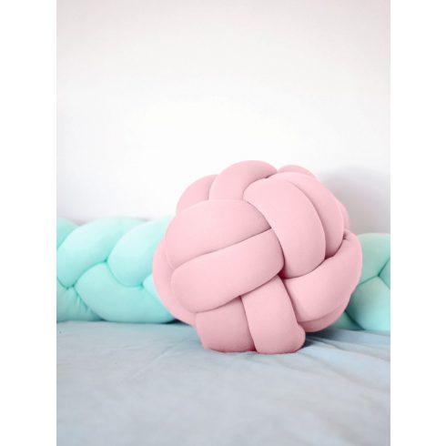 Luxury csomópárna - labda, pasztell rózsaszín