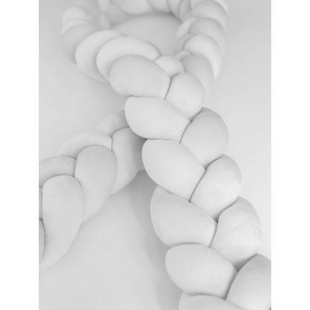 Luxury Super Soft Velvet fonott rácsvédő - világosszürke 240 cm
