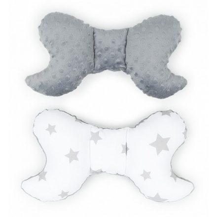 Csillagok minky pillangó párna - szürke