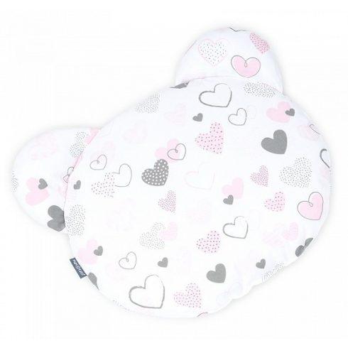Teddy Bear lapos párna - Pasztell szívek