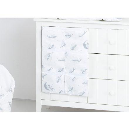 Tündéri zsebes tároló - fehér, szürke