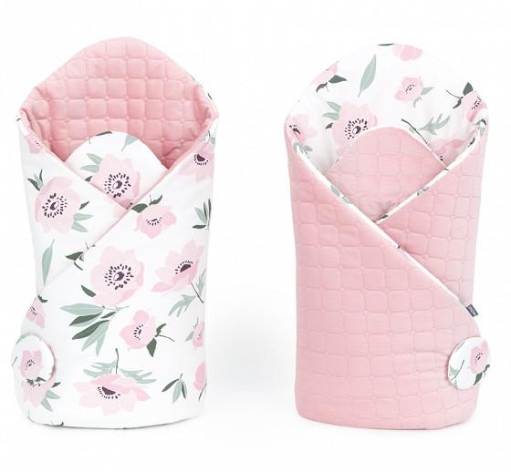 Flowers prémium steppelt bársony pólya - pasztell rózsaszín