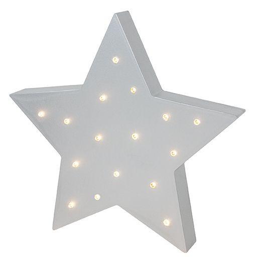 Pasztell csillag LED-es lámpa
