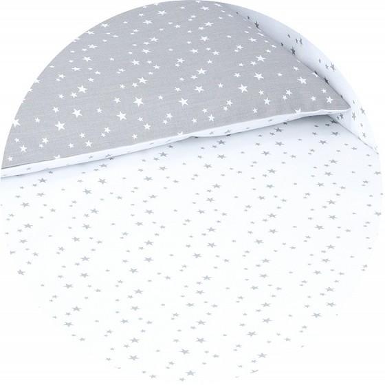 Mini csillagok 2 részes babaágynemű szett - fehér, szürke