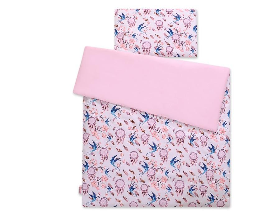 Sweet baby fecske 2 részes babaágynemű szett - kék, rózsaszín