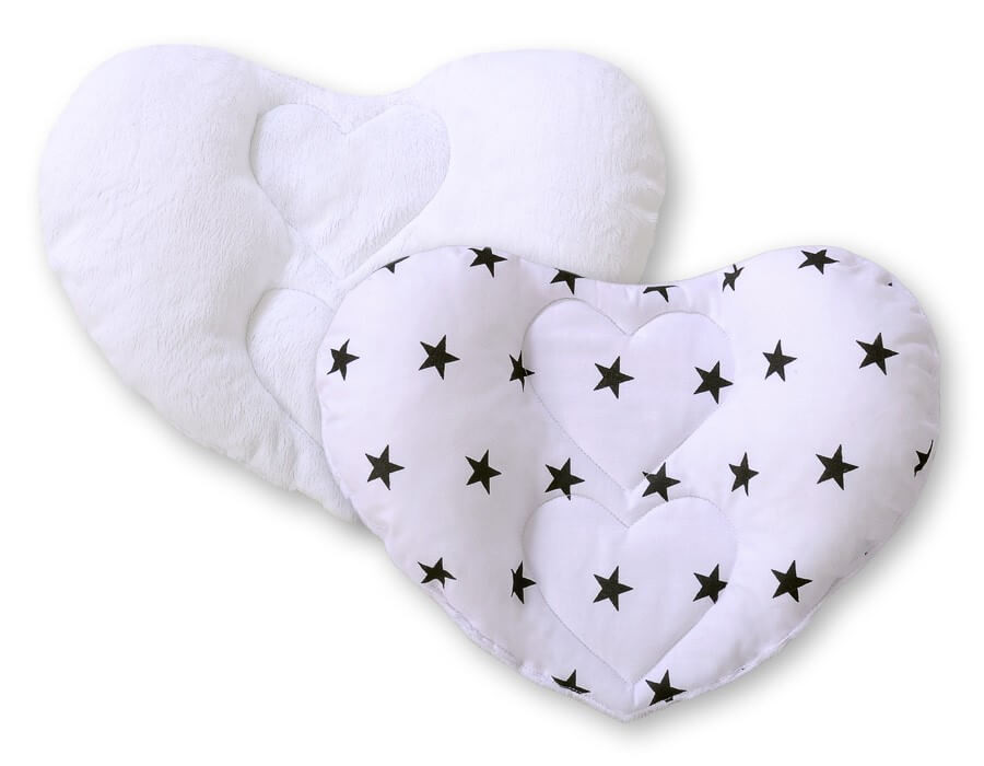Sweet baby Szívecske fejtámasz párna - Csillagos, fekete, fehér