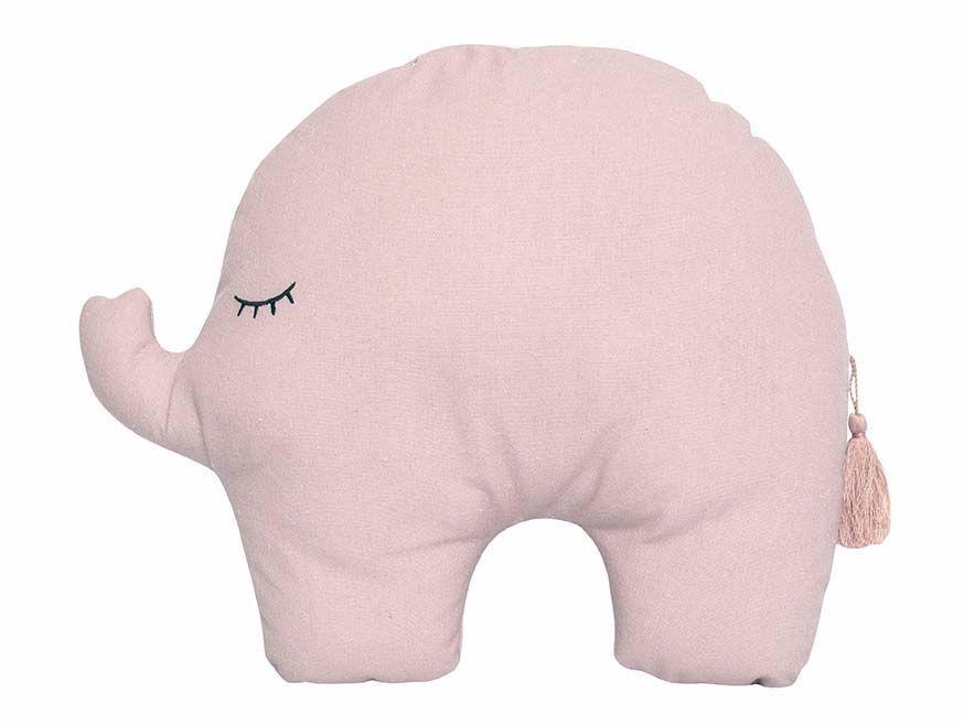 Pasztell formapárna - elefánt, rózsaszín
